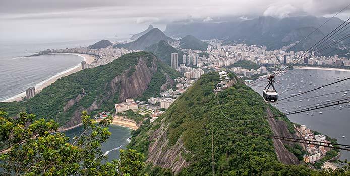 Blick vom Zuckerhut auf die Copacabana und Botafogo - Foto: sabiá brasilinfo