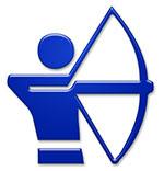 bogenschießen archery symbol