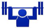 gewichtheben weightlifting symbol
