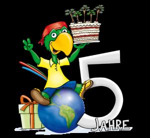 Zeca-Logo zum 5-jährigen Jubiläum