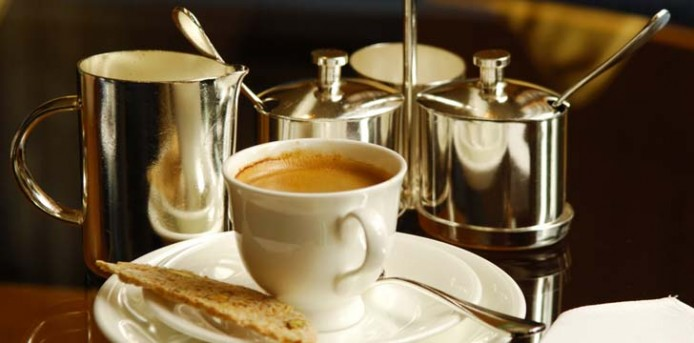 high tea: biscuits and coffee