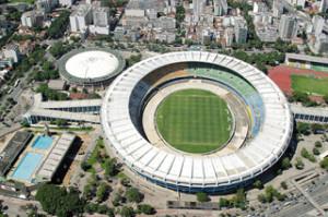 Vista aérea do Maracanã e Maracanazinho