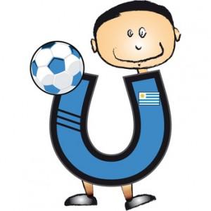 Alphabet Football lettre U