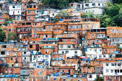 Favela, Brazilian slum in Rio de Janeiro