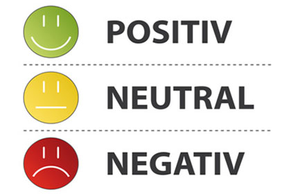 Bewertungen - POSITIV NEGATIV NEUTRAL