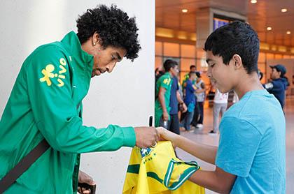 Seleção Brasileira chega em Boston
