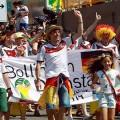Deutsche Fans kauften 12.000 Eintrittskarten für das Spiel gegen Ghana im Castelão in Fortaleza
