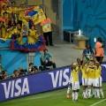 Die Kolumbianer warten auf das grosse Spiel gegen Brasilien im Viertelfinal