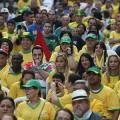 Das Spiel der brasilianischen Seleção setzte die Fans beim FIFA-Fan-Fest in São Paulo unter Hochspannung