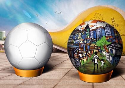 Projeto une arte popular a futebol