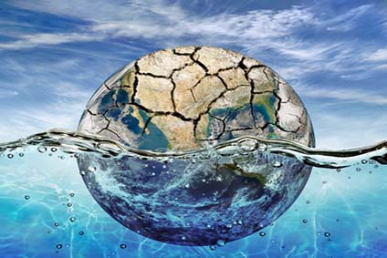 "Dried up planet immersed in the waters of world ocean ""Elements"