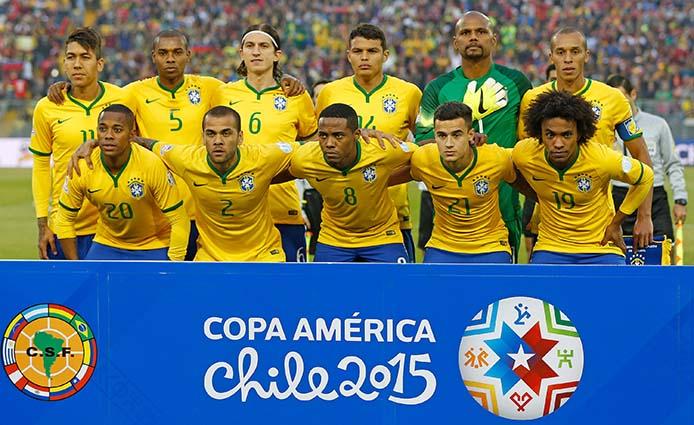 21-06-2015 - Santiago - CHile - Seleção Brasileira de Futebol, durante partida contra a seleção da Venezuela, na disputa pela Copa América 2015. Foto: Rafael Ribeiro/ CBF
