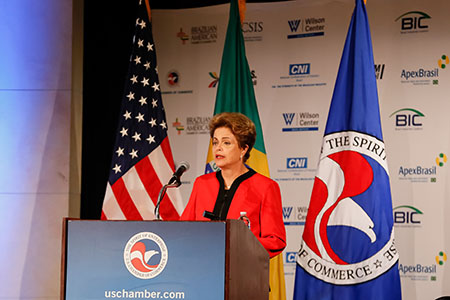 Washington - EUA, 30/06/2015. Präsidentin Dilma Rousseff bei einer Rede in den USA. Foto: Roberto Stuckert Filho/PR