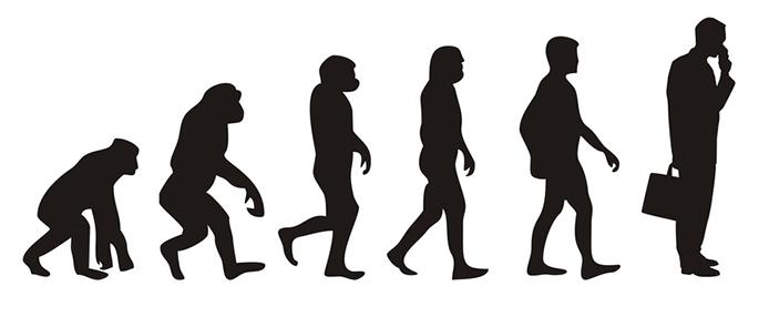 Vom Affen zum Geschftsmann (Menschen)