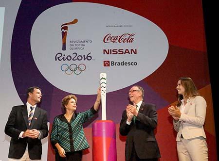 03-07-2015; Brasília - DF; Governador Luiz Fernando Pezão na Apresentação da Tocha Olímpica; Foto: Carlos Magno