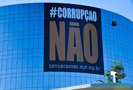 Ministério Público Federal (MPF) em parceria com a Associação Ibero-Americana de Ministérios Públicos, lança campanha internacional de combate à corrupção, #CORRUPÇÃONÃO (Valter Campanato/Agência Brasil)