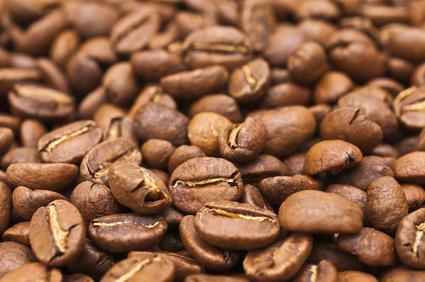 Kaffebohnen Makro