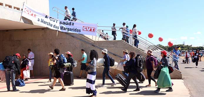 11/08/15- Brasília- DF- Brasil- Marcha das Margaridas 2015 - Movimento das mulheres rurais chega a Brasília para a 5ª edição da manifestação, que vai ocorrer nos dias 11 e 12/08, na capital federal