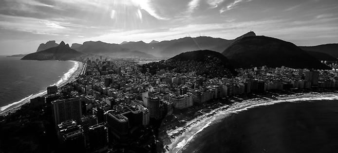 Praias de copa e Ipanema no Rio de Janeiro. Foto: Shana Reis