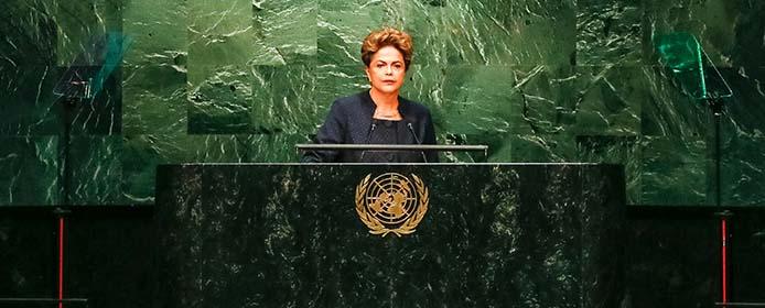 Nova Iorque - EUA, 27/09/2015. Presidenta Dilma Rousseff durante sessão Plenária da Conferência das Nações Unidas para a Agenda de Desenvolvimento Pós-2015. Foto: Roberto Stuckert Filho/PR