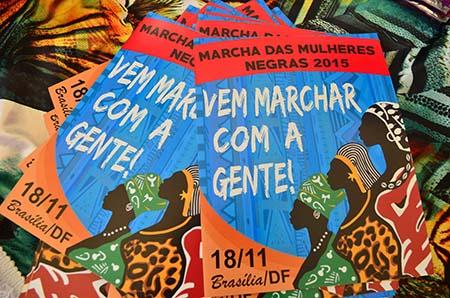 Mulheres negras do Rio de Janeiro lançam, mobilização para a Marcha Das Mulheres Negras no Rio: Contra o Racismo, a Violência e pelo bem viver,que acontecerá em Brasília no dia 18 de novembro (Tânia Rêgo/Agência Brasil)