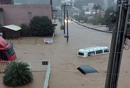 Maravilha foi um das cidades atingidas pela chuva nesta terça-feira.