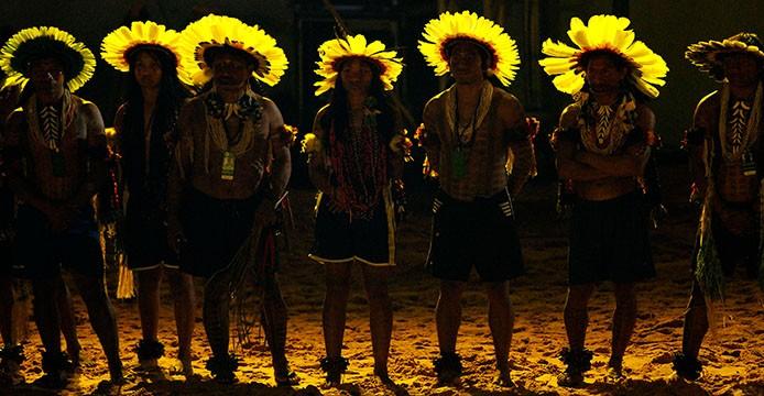 Jogos Mundiais dos Povos indígenas, em Palmas (TO). Na foto, cerimônia de abertura, índios Way Way. FOTO: RAIMUNDO PACCÓ / DIVULGAÇÃO DATA: 23.10.2015 PALMAS - TO