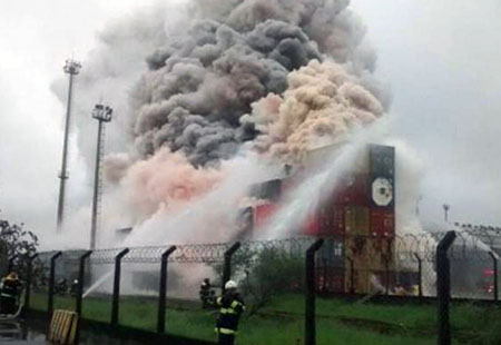 Feuer Santos_Twitter-BombeirosPMESP