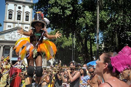 Rio de Janeiro - O bloco Mulheres Rodadas sai do Largo do Machado, zona sul da cidade (Tânia Rêgo/Agência Brasil)