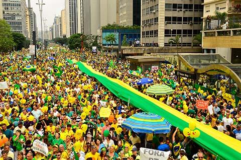 São Paulo - Kundgebung an der Avenida Paulista - Foto: Rovena Rosa / AgênciaBrasil)