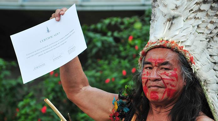 Indio vom Volk der Tukano - Foto: Pedro Ventura / Agência Brasíla