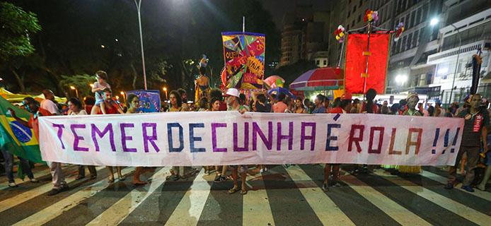 Pro und Contra Demos zum Amtsenthebungsverfahr  Foto: Paulo Pinto/ Agência PT