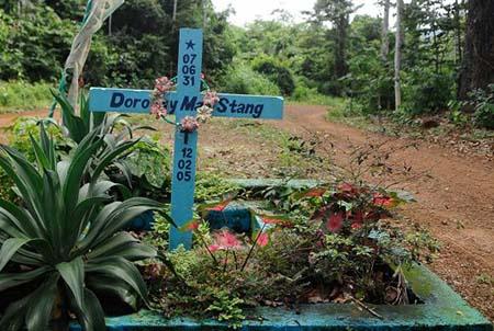 Kreuz der ermordeten amerikanischen Missionarin Dorothy StangFoto: Tomaz Silva / Agencia Brasil[