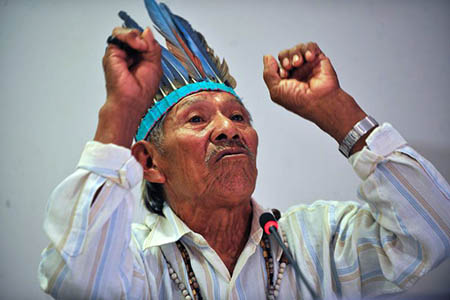 Tito Vilhalva vom Volk der Guarani Kaiowá - Foto: Antonio Cruz/Agência Brasil)