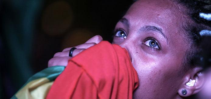 Traurigkeit bei den Pro Dilma Anhängern - Foto Paulo Pinto/Agencia PT
