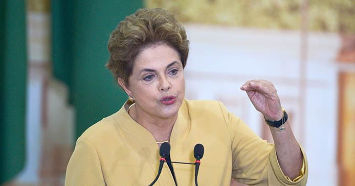 Dilma Rousseff bei einer ihrer letzten offiziellen Auftritte - Foto: José Cruz/Agência Brasil