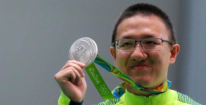 Felipe-Almeida-Wu | Silbermedaille 10m Pistole - Foto: Ministério do Esporte