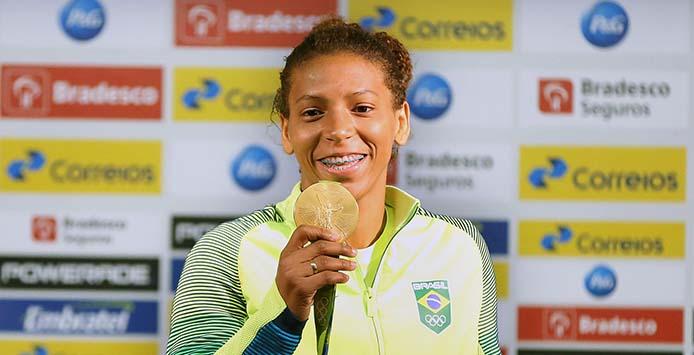 Rafaela Silva | Goldmedaille Judo - Foto: Francisco Medeiros/ME