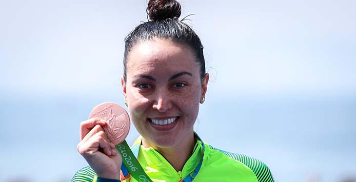 Poliana Okimoto | Bronzemedaille Marathon Schwimmen – Foto: Ministério do Esporte