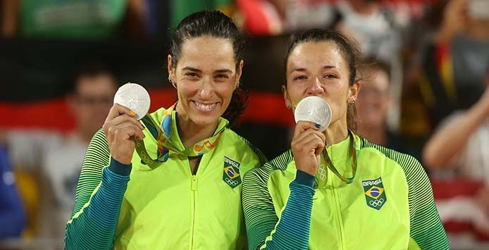 Ágatha und Bárbara | Silbermedaille Beachvolleyball – Foto:  Célio Messias/ Inovafoto/CBV