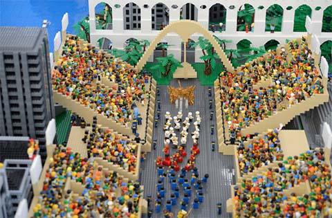 Lego-Stadt - Foto: Tânia Rêgo/Agência Brasil