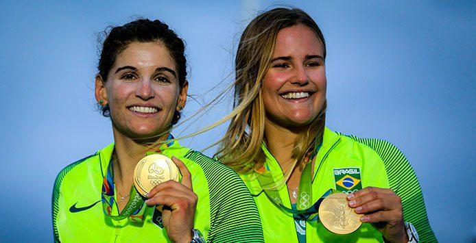 Martine Grael / Kahene Kunze | Goldmedaille 49er FX-Bootsklasse – Foto: Ministério do Esporte