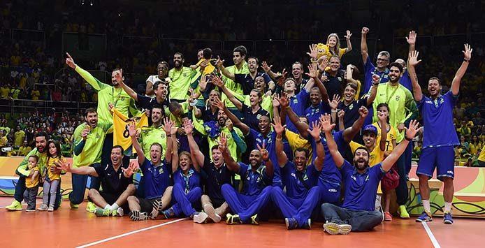 Sieger-Team Brasilien - Volleyball Männer | Goldmedaille – Foto: Willian Lucas/ Inovafoto