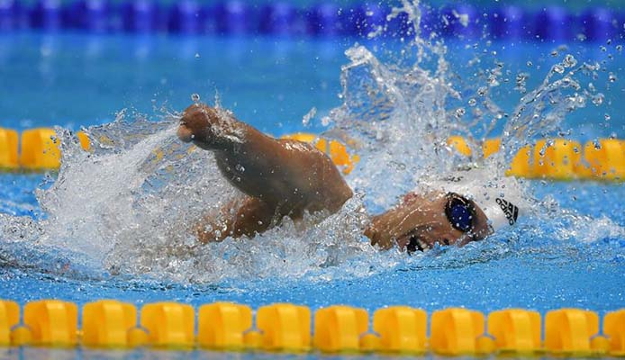 Daniel Dias u.a. Goldmedaille im 100m Freistil - Foto: Tânia Rêgo/Agência Brasil