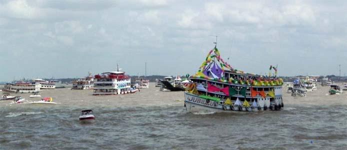 Schiffsprozession - Foto:  SECOM/Pará