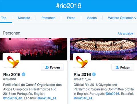 Handout: twitter.com/hashtag/rio2016