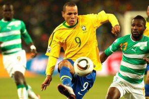 Luis Fabiano erzielte 2 Treffer gegen die Elfenbeinküste