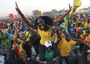 Fans in Südafrika