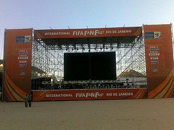 International Fifa Fan Fest Copacabana Rio de Janeiro Brasil